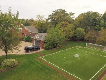 aménager terrain de foot dans son jardin